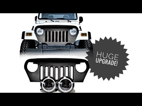 How To Install Aftermarket Grill And Headlights – Jeep Wrangler