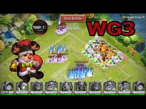 Wretched Gorge 3 Using Lil Nick's - Castle Clash