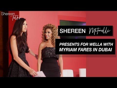 Shereen Mitwalli - TV Presenter & Public Speaker presents for Wella in Dubai with Myriam Fares