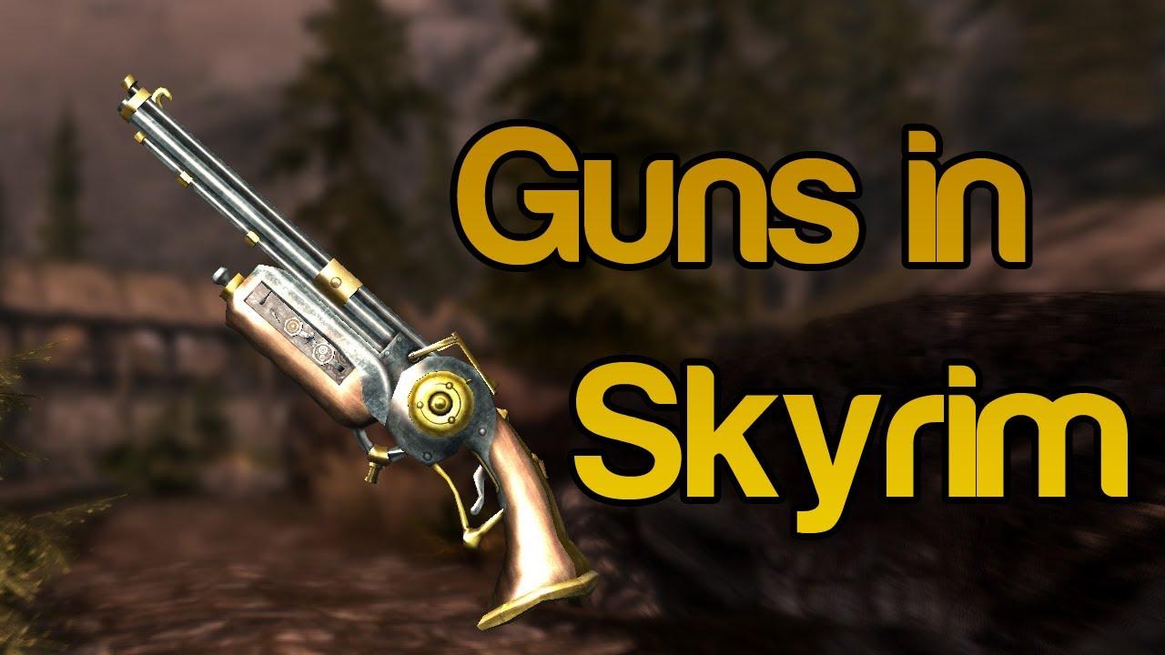 Skyrim Mods Guns In Skyrim Dwemer Rifle And Buster
