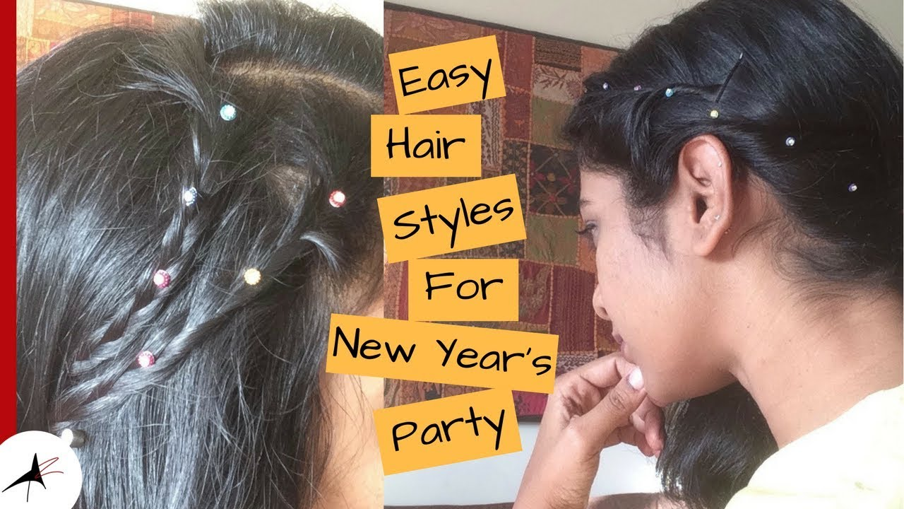 Easy Hair Styles For Parties With Tips | New Year's Eve Party Hair Styles | Arpitharai