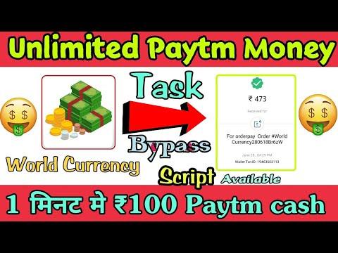 Unlimited Paytm Cash || Task Bypass Script || Paytm earning app