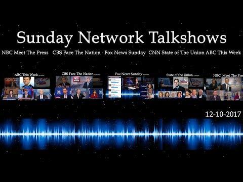 Sunday Network Talkshows December 10th, 2017