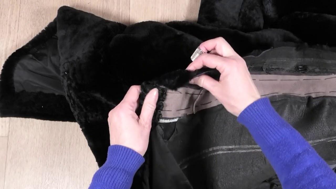 Ремонт шубы замена подборта и крючков