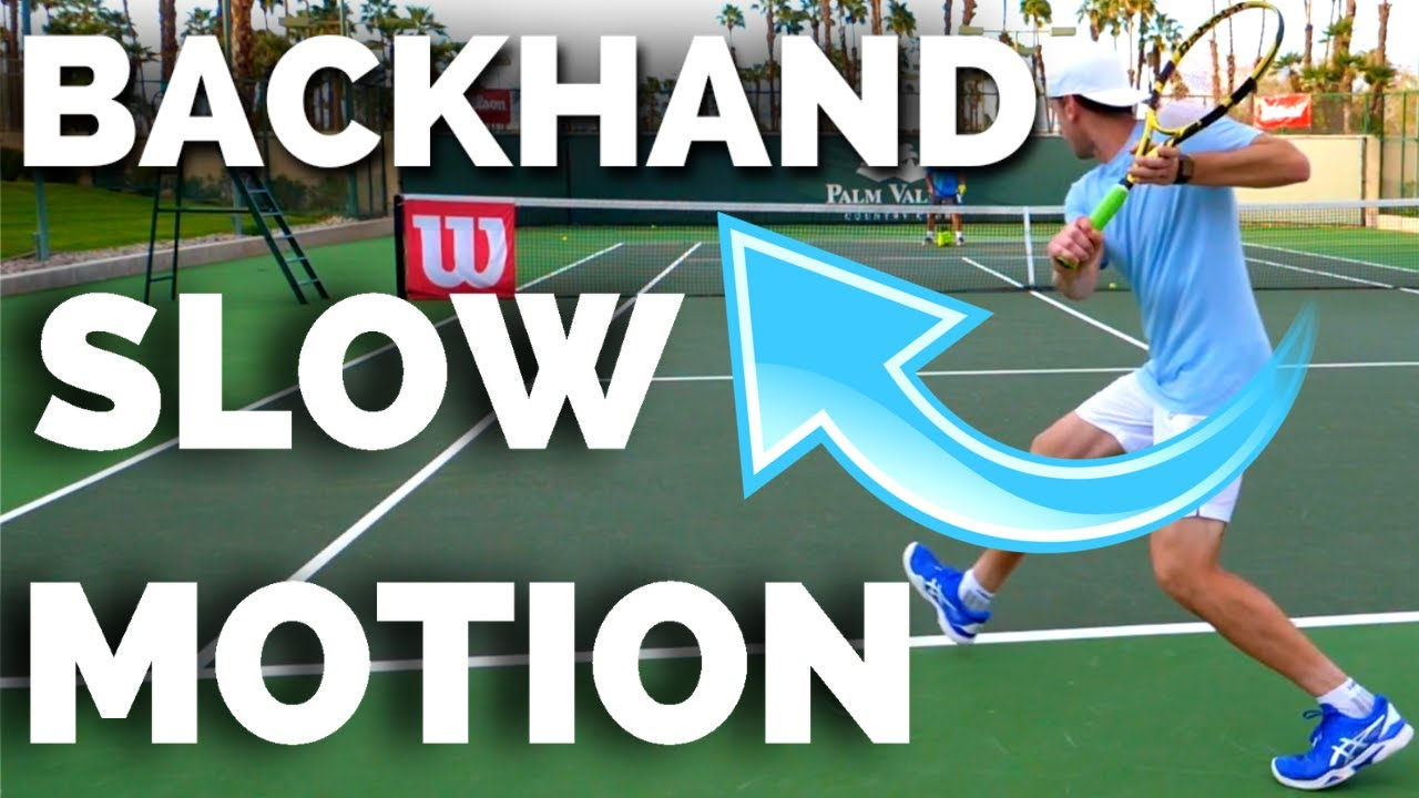 ATP One Handed Backhand Slow Motion (All Angles) - Tennis One Handed Backhand Technique