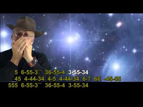 nº 283  Ein Stern ( Nik P ) tablatura armonica diatonica C-G