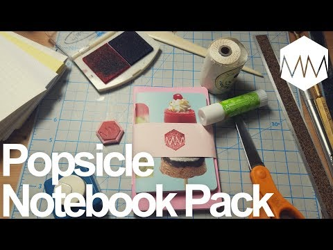 ▲ Popsicle Pack // Pocket Notebook Project // Bookbinding Basics ep. 17