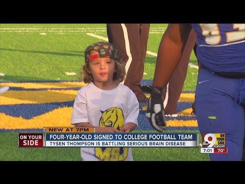 4-year-old signed to Mount Saint Joseph University football team