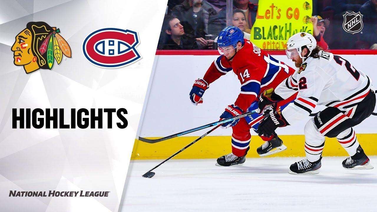 NHL Highlights | Blackhawks @ Canadiens 1/15/20