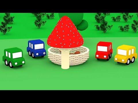 Cartoni animati per bambini: Macchinine Colorate e la foresta di funghi