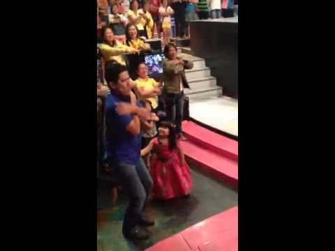 Ryzza Mae with Bossing todo dance ng LOOK UP.