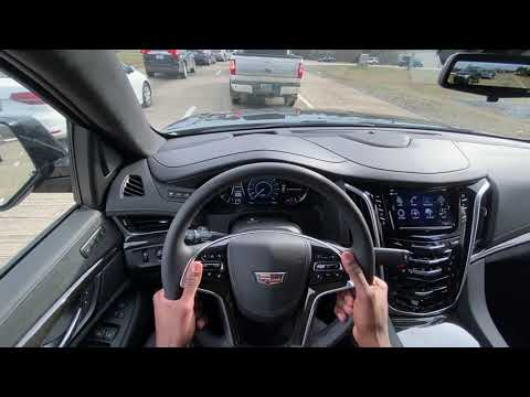 2020 Cadillac Escalade ESV Review, POV Test Drive and Automatic Parking Assist Demonstration