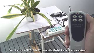 Home Automation RF Wireless Remote Control Lift Table by Linear Actuator