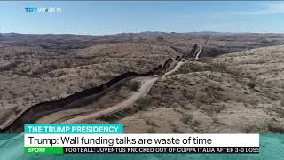 'I'll continue to build the wall' - President Donald Trump