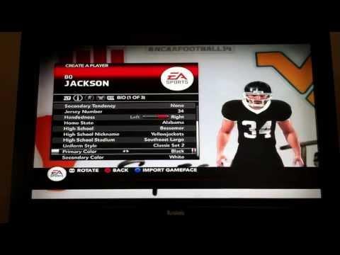 NCAA Football 14 Bo Jackson Road To Glory- The Creation of a Legend