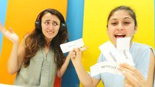 Ayşe ve Sevcan ile Challenge. Dudak okuma yarışması.