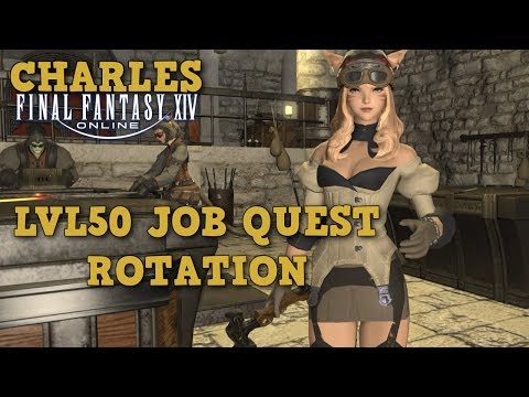 #133 FFXIV - Handwerker Lvl50 Job-Quest Rotation / deutscher-German Guide