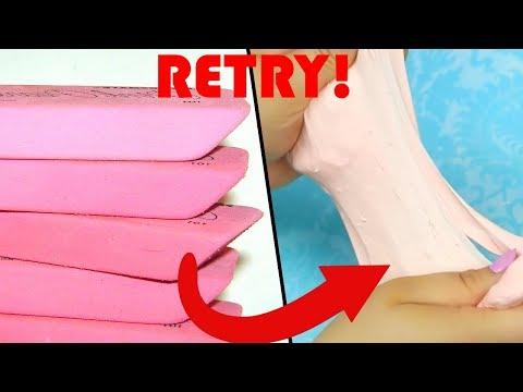 Eraser Slime DIY RETRY- DIY Test 11