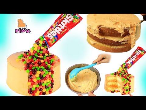 ДЕЛАЕМ ТОРТ СКИТТЛС СВОИМИ РУКАМИ DIY SKITTLES CAKE Relaxing Food Video