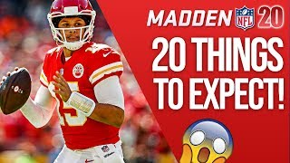 20 New Things To Expect From Madden 20