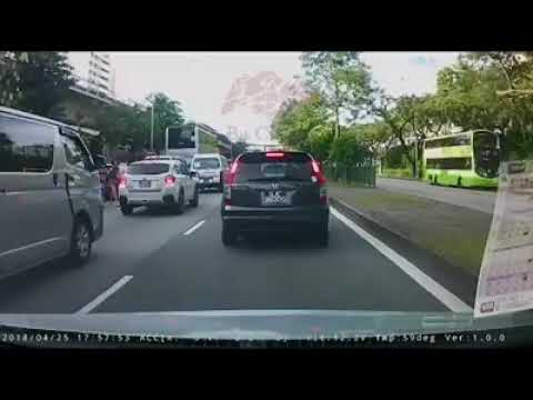 Pedestrian fail to check in between lanes before crossing