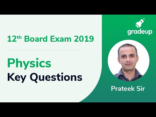 Most Important Questions for Physics Class 12th Board Exam 2019