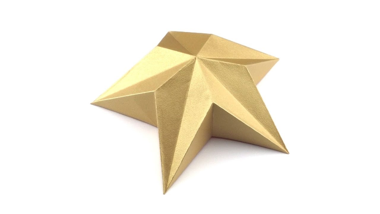 Origami Star For Christmas Tree Topper Tutorial Hyo Ahn