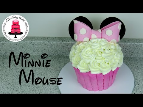 Giant Buttercream Minnie Mouse Cupcake Cake How To With