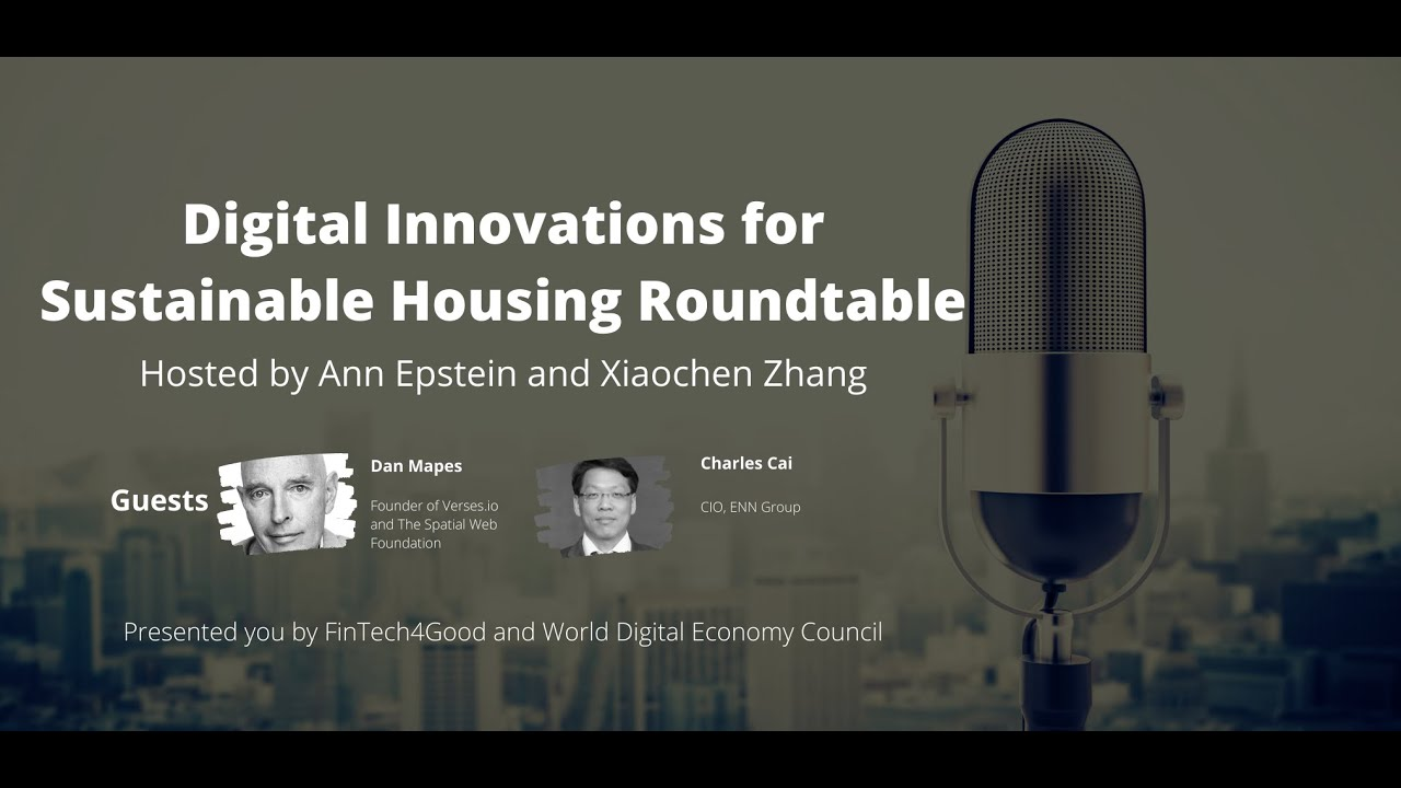 FinTech4Good Digital Innovations for Sustainable Housing Roundtable