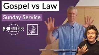 Gospel vs Law - Richard Powell - 9th August 2020 - MRC Live in BSL