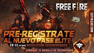 -🔴 Nueva Actualización y PRE-REGISTRO al Nuevo Pase Élite - FREE FIRE - Día de Patros!!