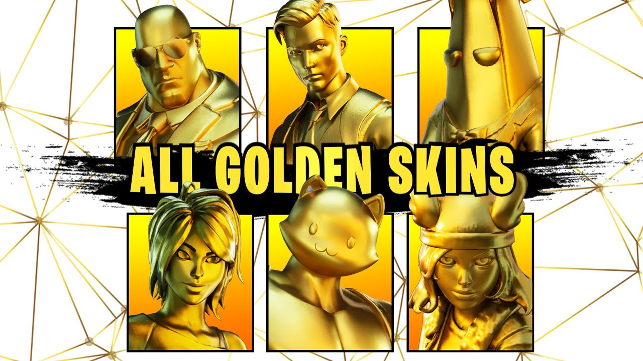 All Gold Outfits And How To Unlock Them Fortnite Youtube
