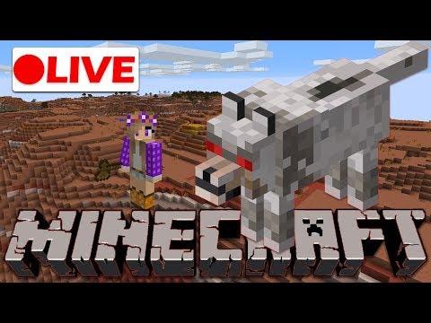 🔴  Building in the Mesa Village!   Minecraft Live Stream