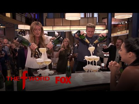 Cat Deeley & Gordon Ramsay Partake In A Champagne Pouring Contest | Season 1 Ep. 6 | THE F WORD