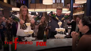 Cat Deeley & Gordon Ramsay Partake In A Champagne Pouring Contest   Season 1 Ep. 6   THE F WORD