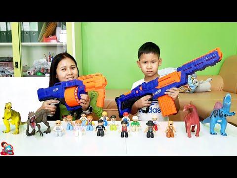 น้องบีม   ศึกปืนเนิฟยิงกระจาย Nerf