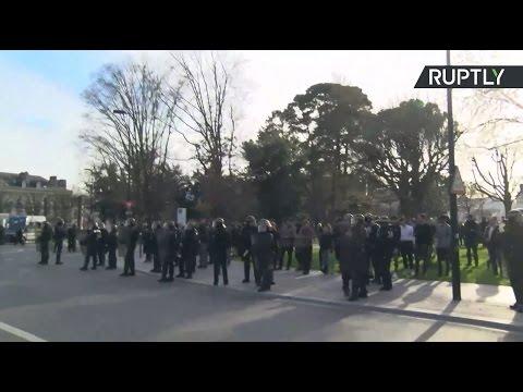 Беспорядки во Франции в ходе протестов против Марин Ле Пен