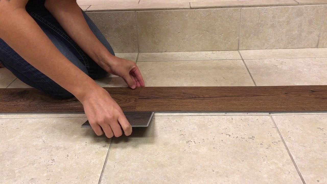 Installing Ez Click Vinyl Planks