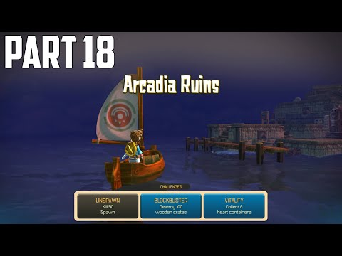 Oceanhorn: Monster Of Uncharted Seas - 100% Walkthrough Part 18 [PS4] –  Arcadia Ruins [Ending]