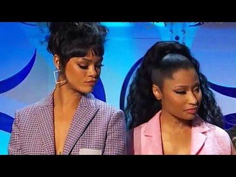 Rihanna Checks Out Nicki Minaj Boobs?!?