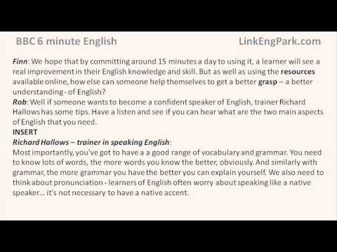 BBC 6 minute English   How quickly can you learn English transcript video