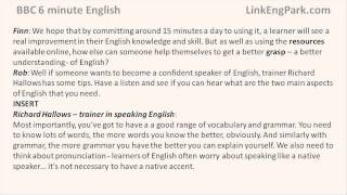 Скачать BBC 6 Minute English How Quickly Can You Learn English Transcript Video