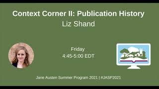 2021 Context Corner: Publication History