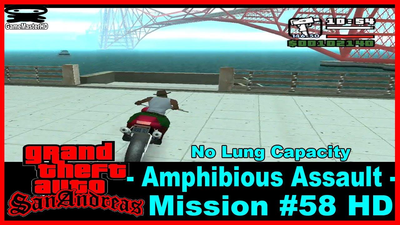 Amphibious Assault (No Lung Capacity) - GTA: San Andreas Mission #61