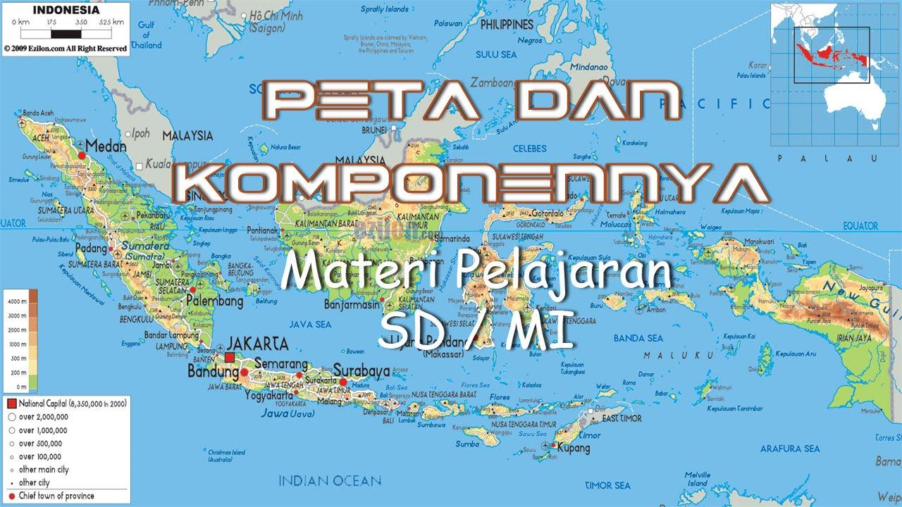 Materi Pelajaran Peta Komponennya Gambar Bali