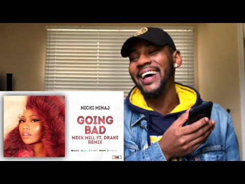 "Nicki Minaj - Barbie Goin Bad Meek Mill Ft Drake ""Going Bad"" Remix 🔥 REACTION"