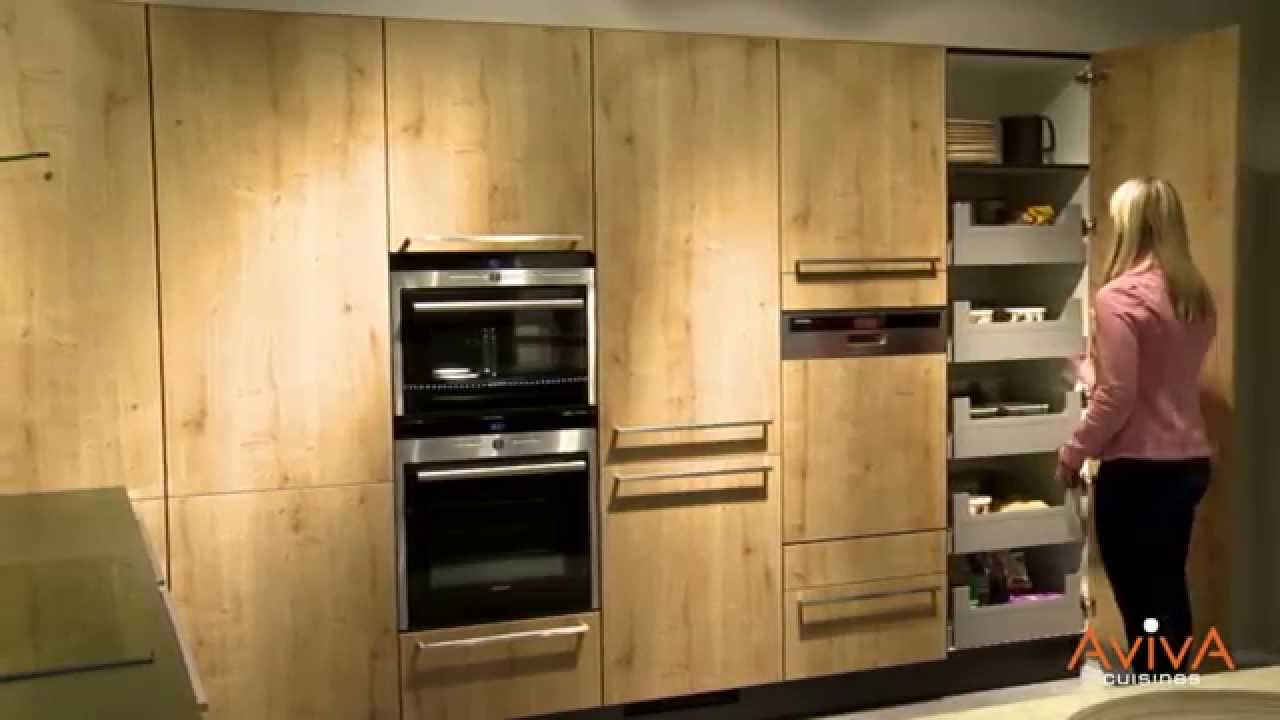 cuisines aviva des espaces de stockage astucieux youtube. Black Bedroom Furniture Sets. Home Design Ideas