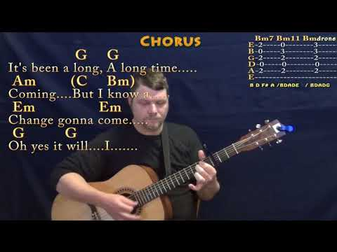 A Change Is Gonna Come (Sam Cooke) Guitar Lesson Chord Chart with Chords/Lyrics - Capo 3rd