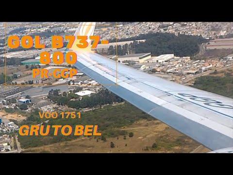 Decolagem e Pouso GOL B737-800WL de Guarulhos para Belém