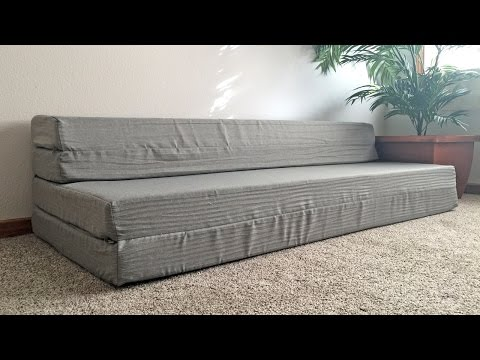 LUCID Folding Mattress & Sofa with Removable Indoor Outdoor Fabric Cover Review